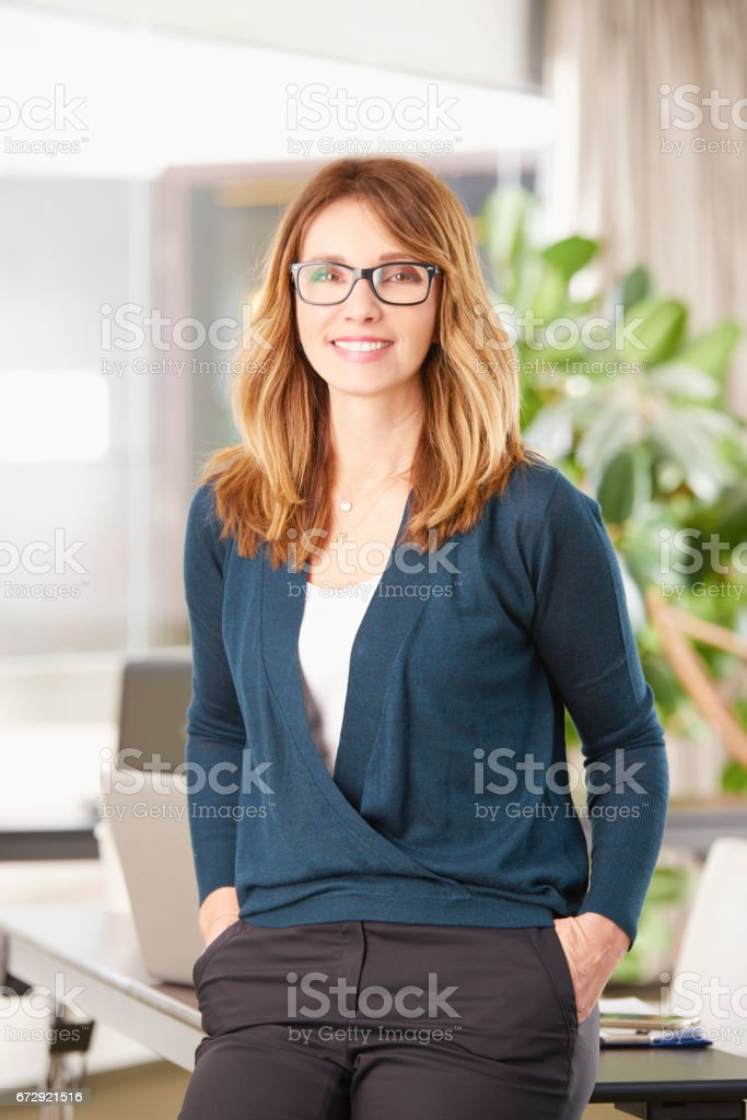Confident professional woman stock photo