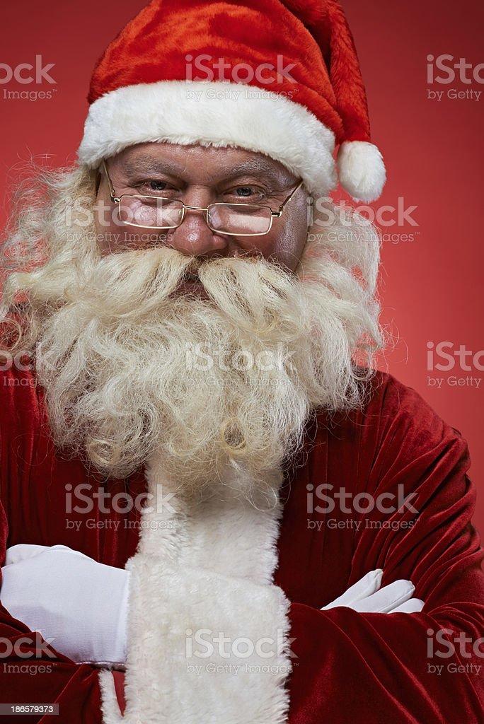 Confident Santa royalty-free stock photo