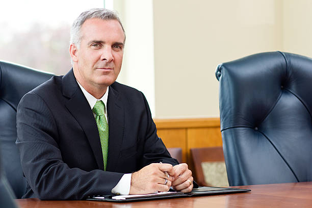 Confident Senior Business leader stock photo