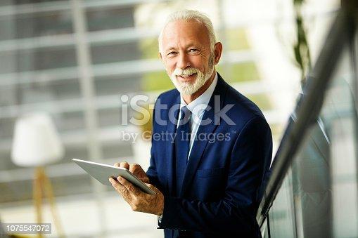 891418990 istock photo Confident senior businessman 1075547072