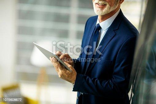 891418990 istock photo Confident senior businessman 1075608672