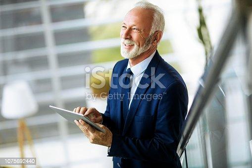 891418990 istock photo Confident senior businessman 1075692440