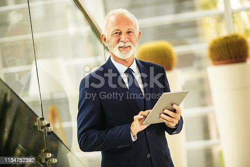 891418990 istock photo Confident senior businessman 1134752392