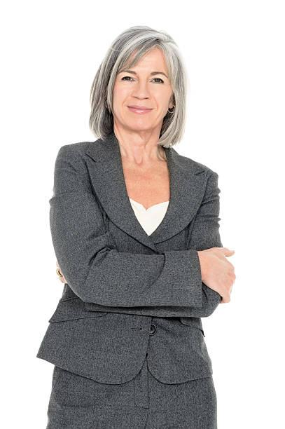 confident senior businesswoman - 膝蓋以上 個照片及圖片檔
