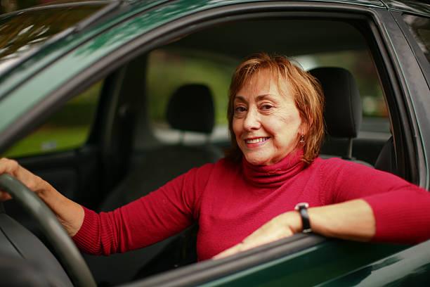 Zuversichtlich alte Fahrer – Foto