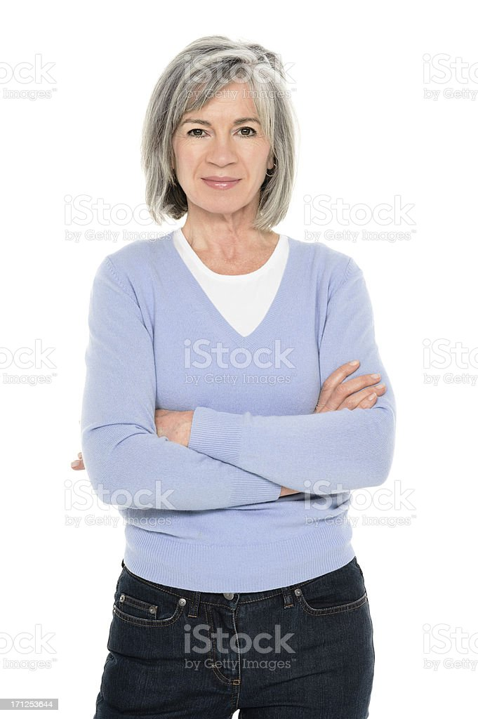 Confident Senior Woman stock photo