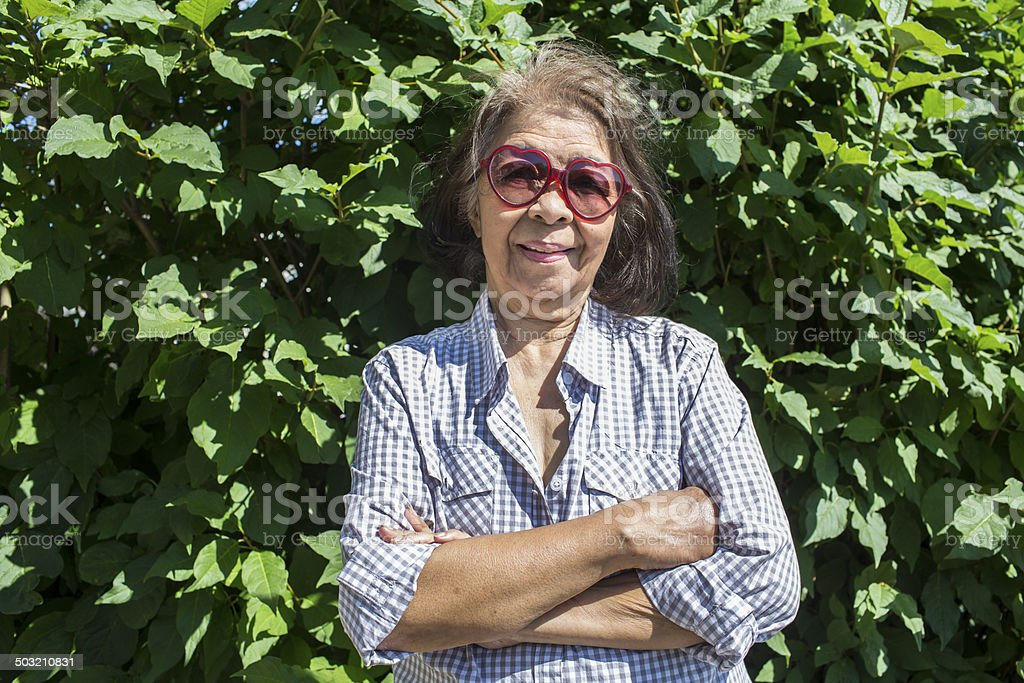 Confident Senior Woman royalty-free stock photo