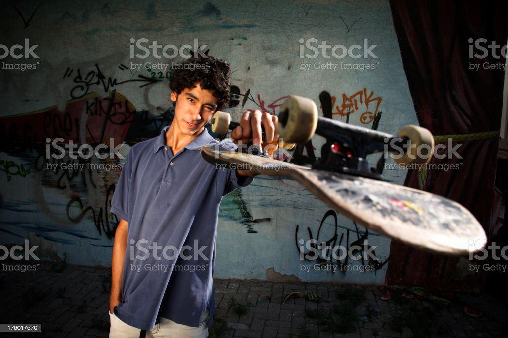 Confident Skateboarder royalty-free stock photo
