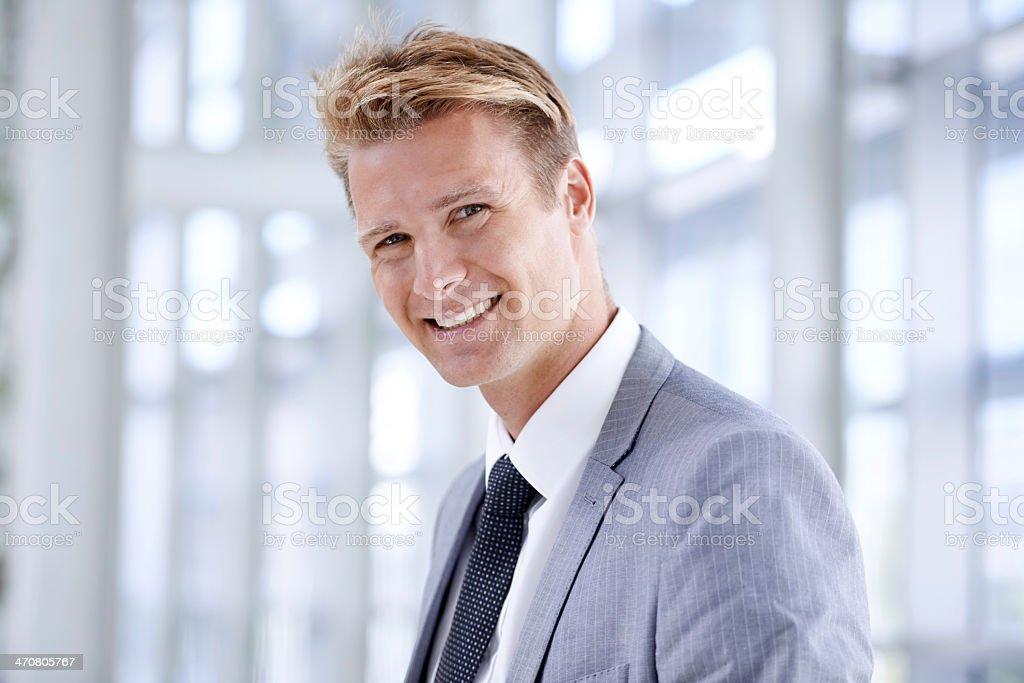 Confident smile stock photo
