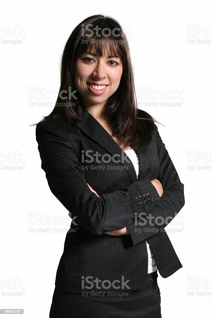 Confident smiling businesswoman royalty-free stock photo