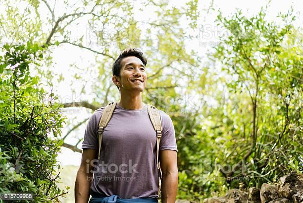 Confident smiling hiker standing against trees picture id615709968?b=1&k=6&m=615709968&s=612x612&h=cf pzmfea9kyatzbdui4aqw3peb7pq3gsr6teqyhqwu=
