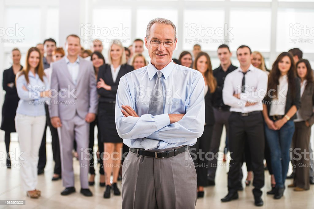 Confident smiling mature businessman looking at the camera. royalty-free stock photo