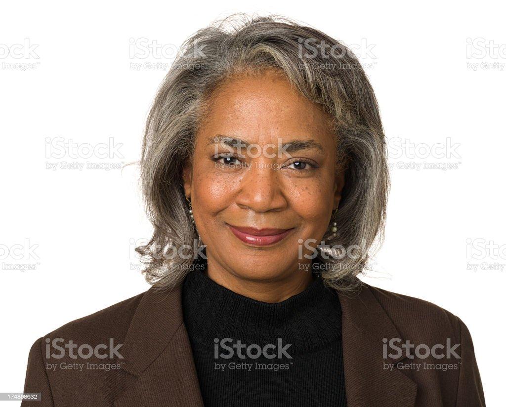 Confident Smiling Mature Woman stock photo