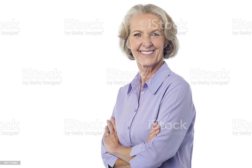 Confident Smiling senior citizen stock photo