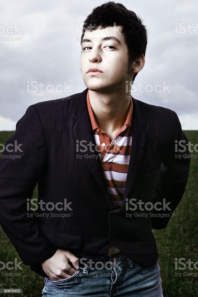 Confident Stature From Young Male Model. royalty-free stock photo