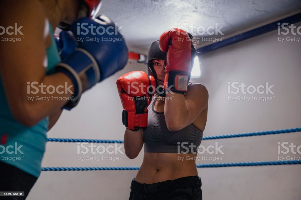 Confident Strong Female Fighters stock photo