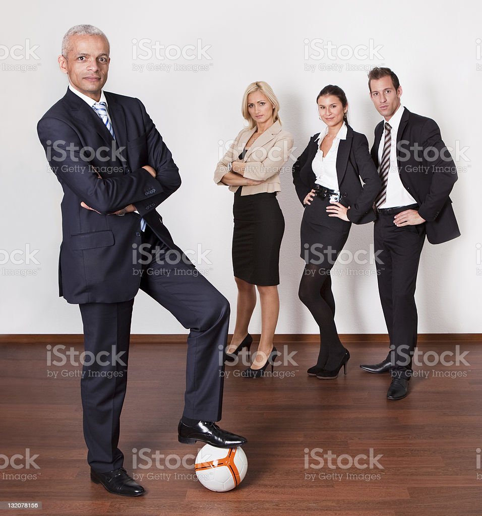 Confident strong professional competitive business team Portrait of a confident strong professional competitive business team. Adult Stock Photo