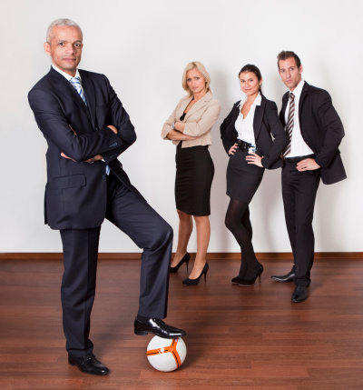 Confident Strong Professional Competitive Business Team Stock Photo - Download Image Now