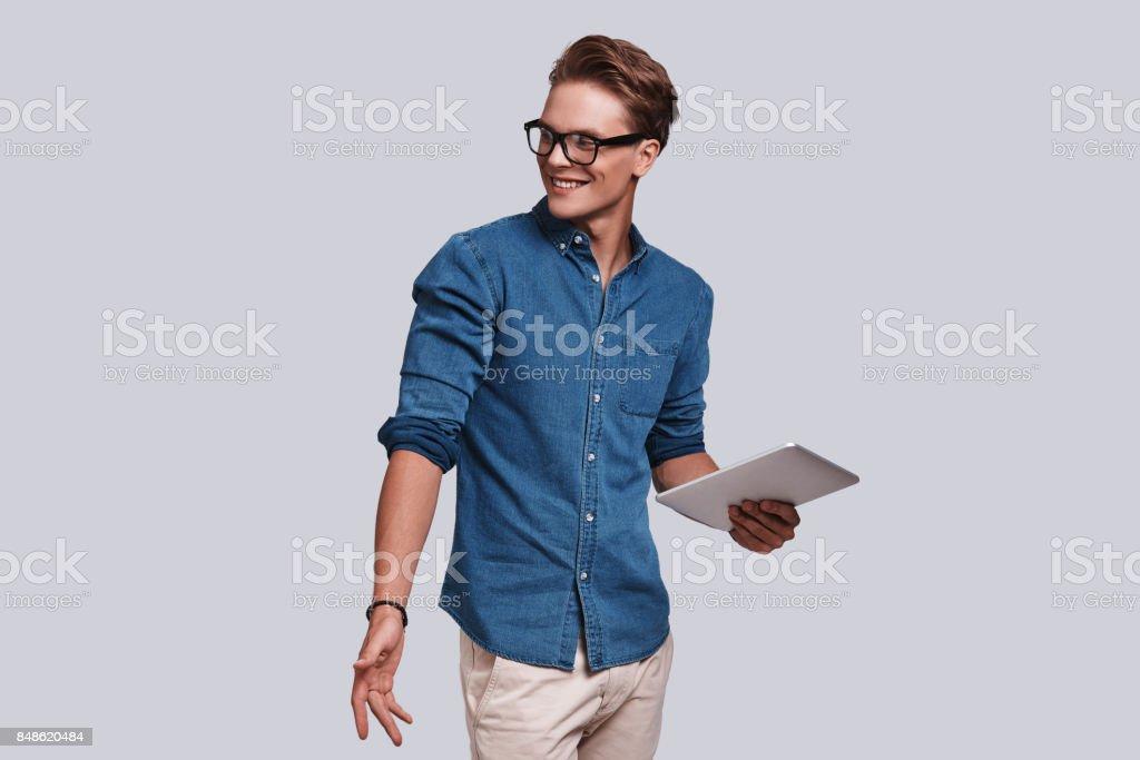 Confident student. stock photo