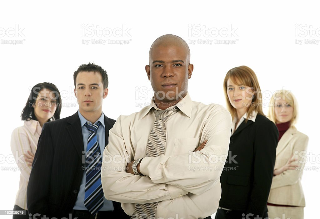 Confident team royalty-free stock photo