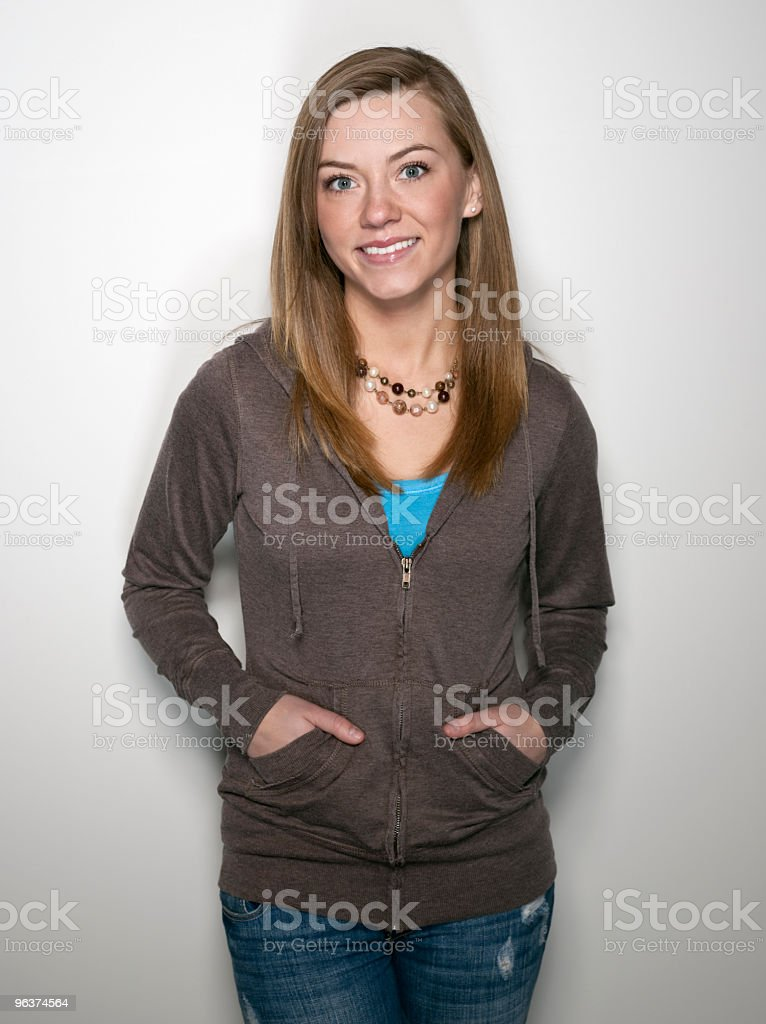 Confident Teenage Girl royalty-free stock photo