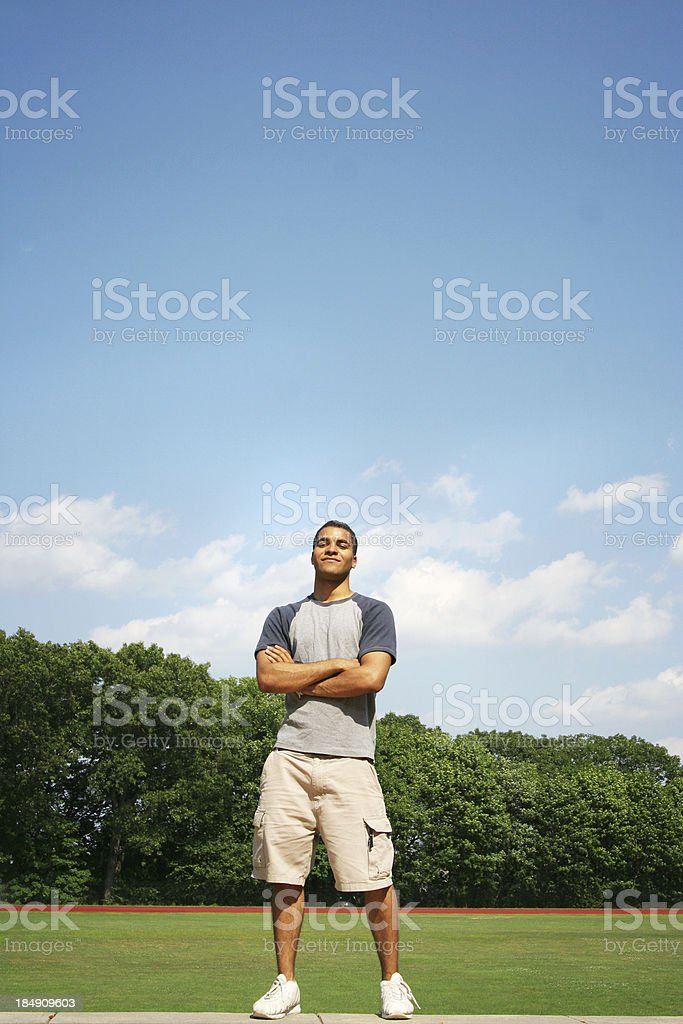 Confident teenager royalty-free stock photo