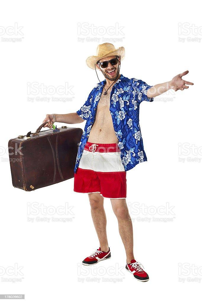 Confident tourist royalty-free stock photo