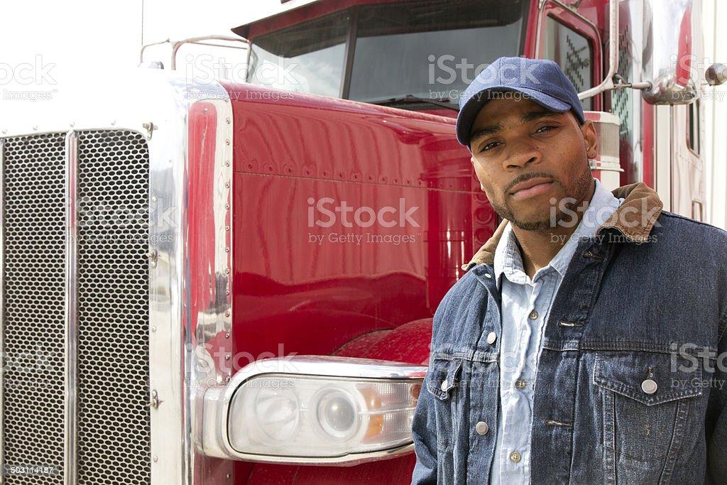 Confident Trucking stock photo