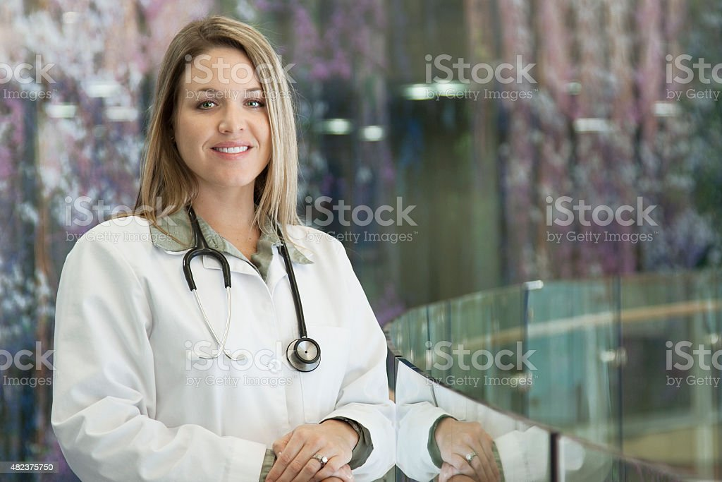 Confident Woman Doctor stock photo
