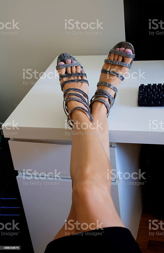 Confident woman in office. stock photo