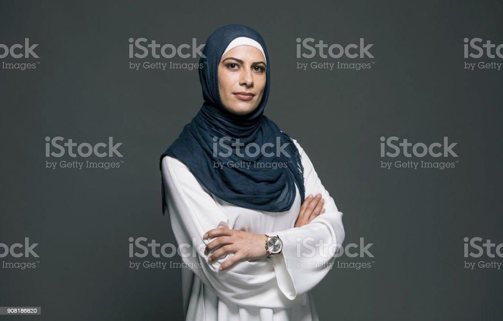 Zuversichtlich Frau – Foto