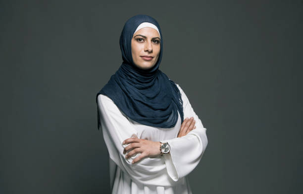 Confident woman Portrait of confident middle eastern woman looking at camera religious veil stock pictures, royalty-free photos & images