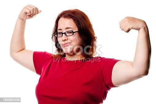 istock Confident Woman Shows Off Arms 183363439