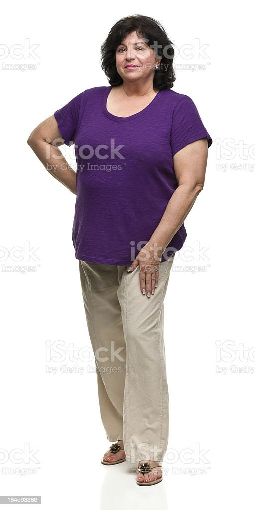 Confident Woman Standing Full Length Portrait royalty-free stock photo