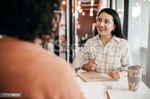 Women offering new mortgage rates to the client