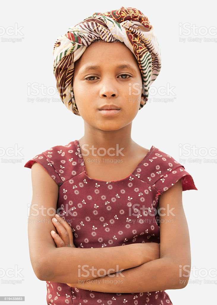 Confident Young African Girl stock photo