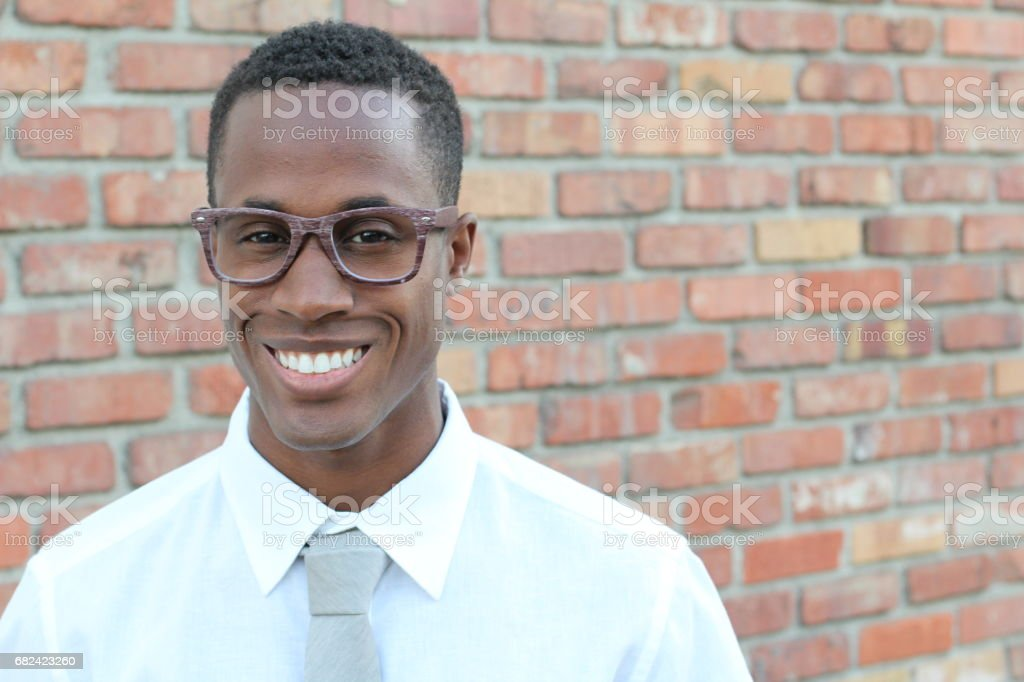 Confident young African man looking at camera royalty-free stock photo