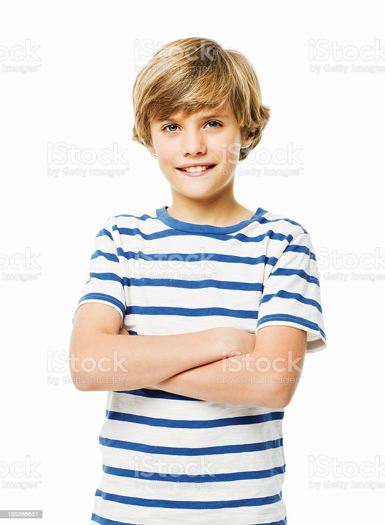 Confident Young Boy - Isolated royalty-free stock photo