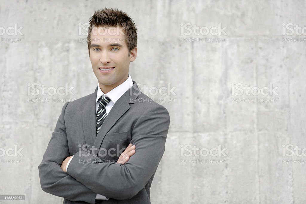 Confident young business man stock photo