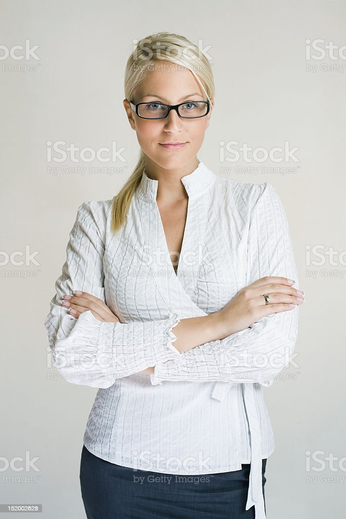 Confident young business woman. royalty-free stock photo