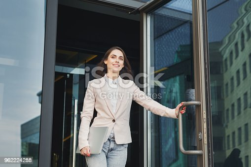 istock Confident young businesswoman talking on mobile 962224288