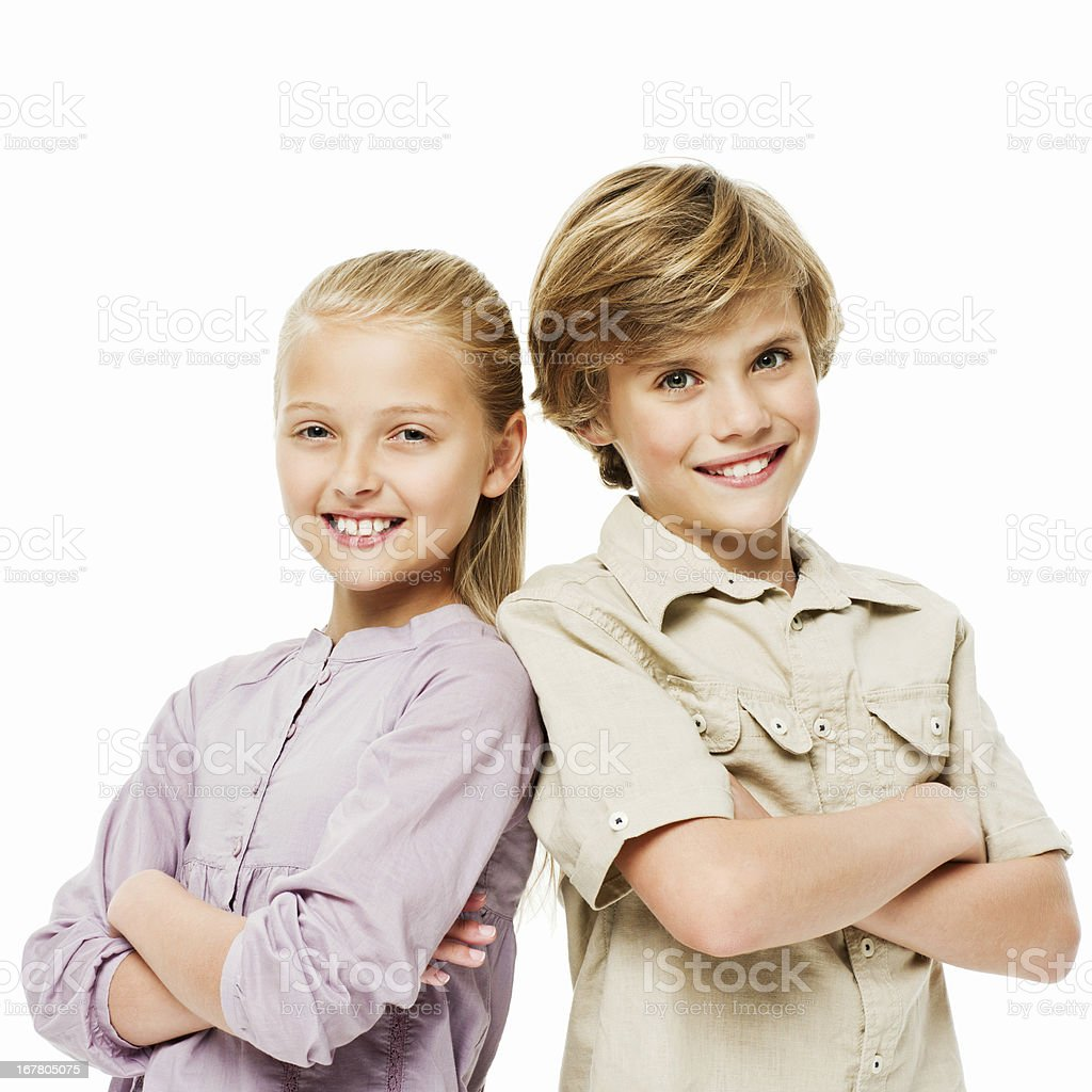 Confident Young Children - Isolated royalty-free stock photo
