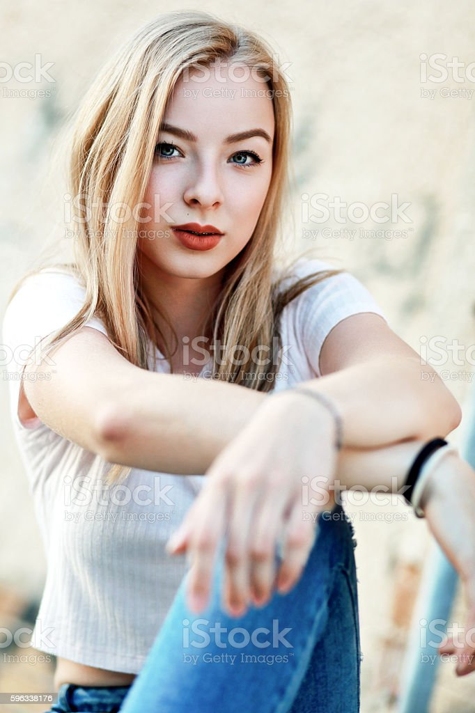confident young girl royalty-free stock photo