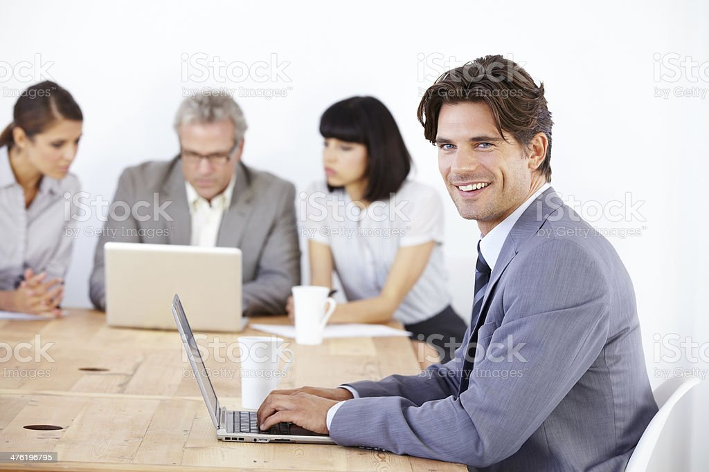 Confident, young male executive royalty-free stock photo