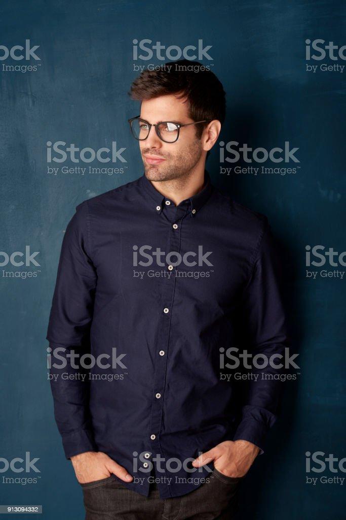 Confident young man portrait стоковое фото