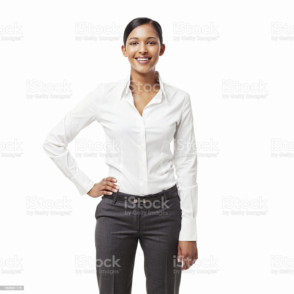 Confident Young Office Worker - Isolated royalty-free stock photo