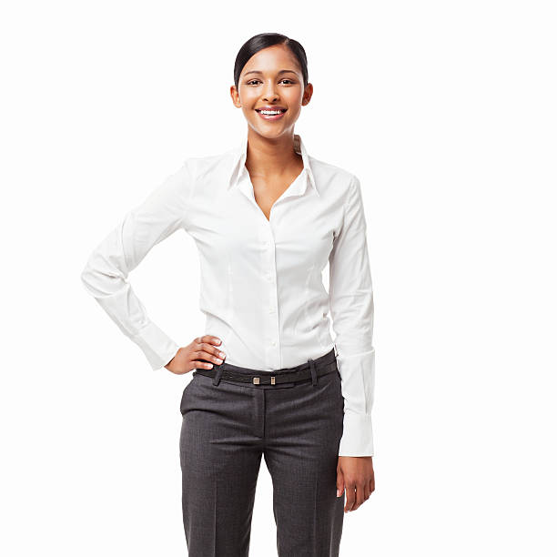 Confident Young Office Worker - Isolated stock photo