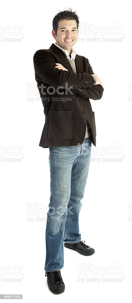 Confident Young Smiling Businessman Isolated royalty-free stock photo