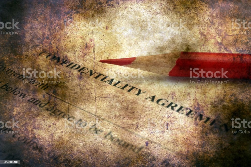 Confidential  agreement grunge concept stock photo