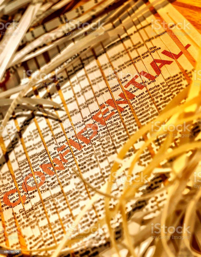 Confidential Document stock photo